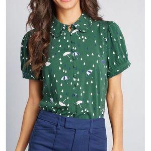 ModCloth Thoroughly Ladylike Short Sleeve Top